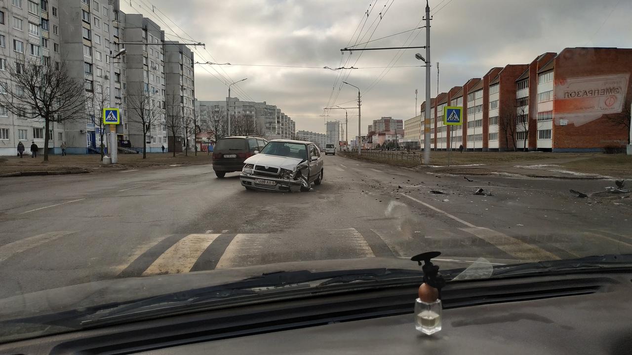 Такси попало в аварию в Бобруйске