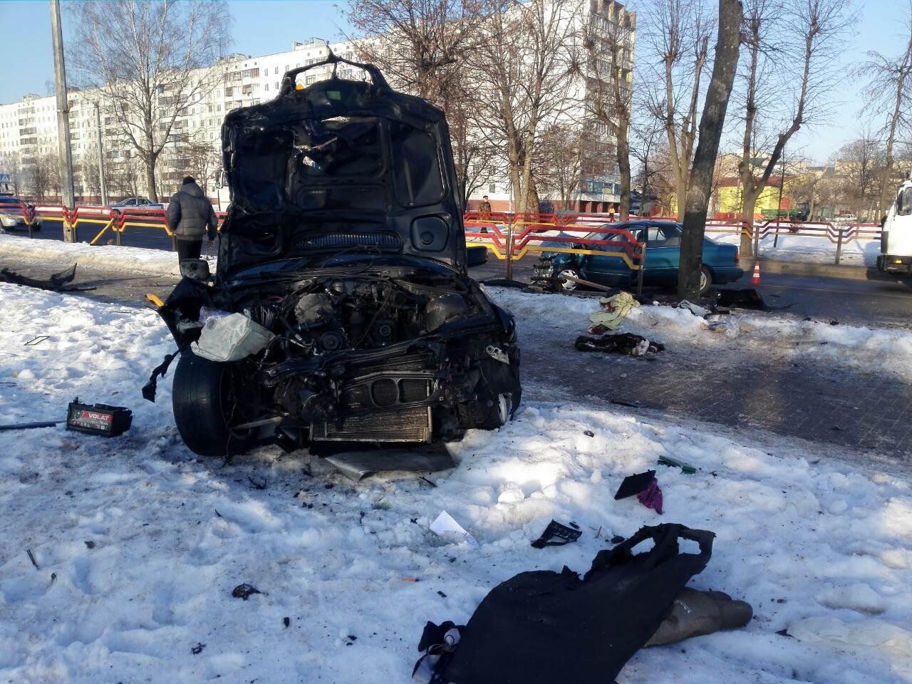 Лобовое столкновение с BMW произошло в Бобруйске