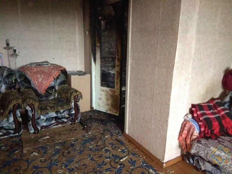 Одного спасли, пятерых эвакуировали на пожаре в Малоритском районе