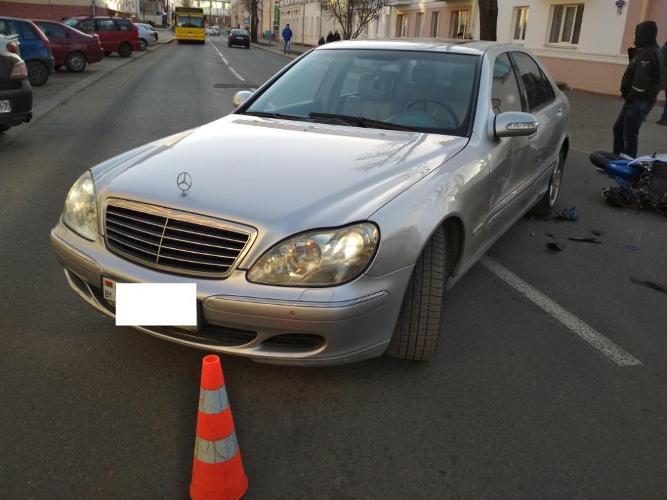 Мотоциклист разбился в Гродно