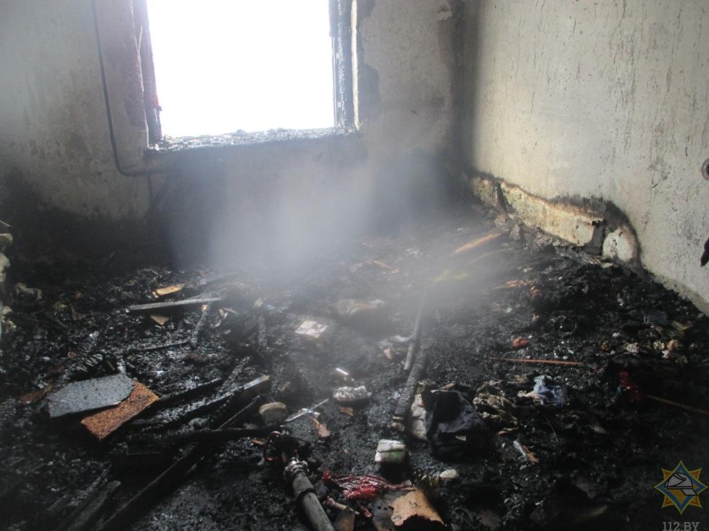 Дети пострадали на пожаре в могилевской многоэтажке