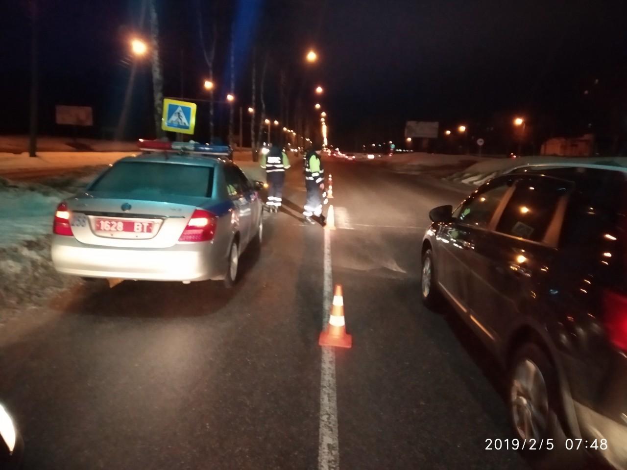 В Новополоцке легковушка отправила пешехода в реанимацию
