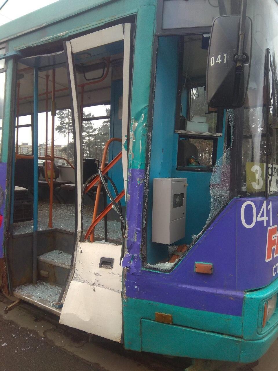 В Минске столкнулись трамвай и МАЗ