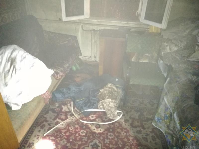 На пожаре в Бресте погибли отец и сын