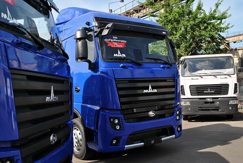 МАЗ начал поставки в Украину новых грузовиков с двухрядными кабинами | 536x800