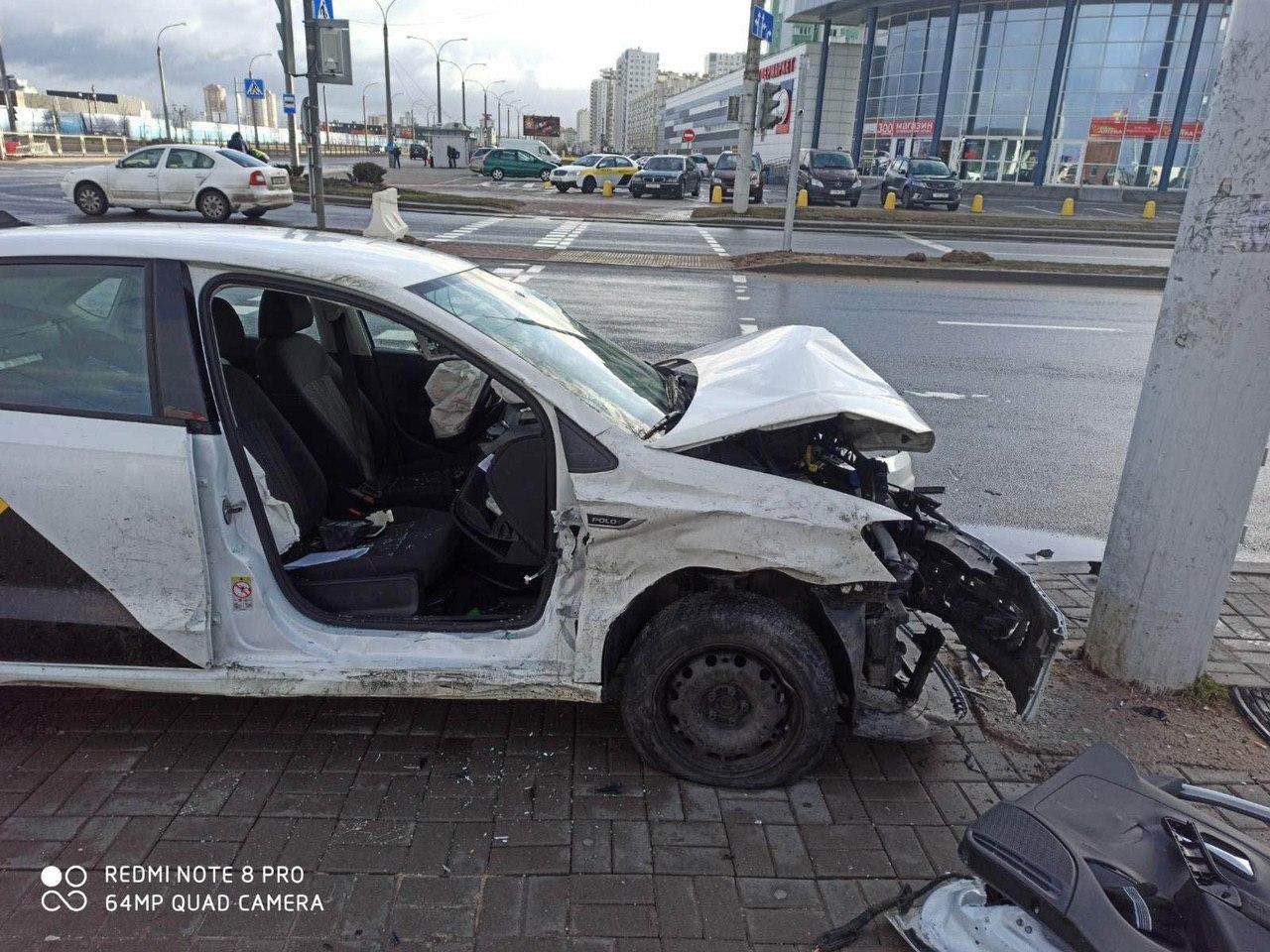 Яндекс-такси спровоцировало ДТП в Минске
