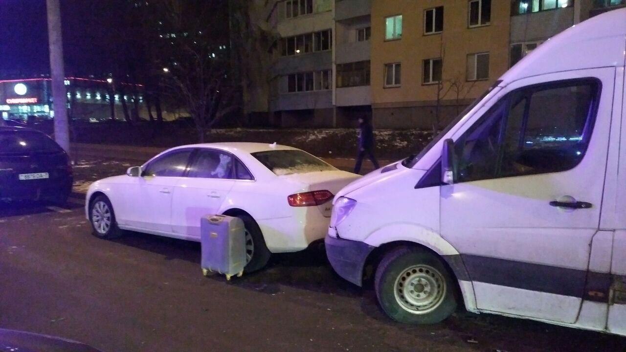 Минчанка за рулем почувствовала себя плохо и протаранила две машины