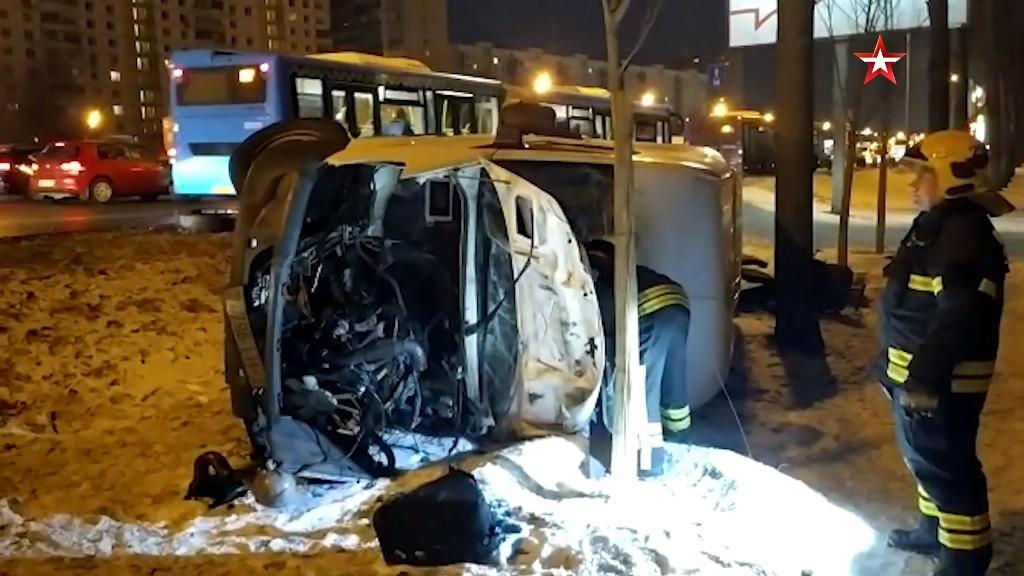 Трое беларусов пострадали в жуткой аварии в Москве