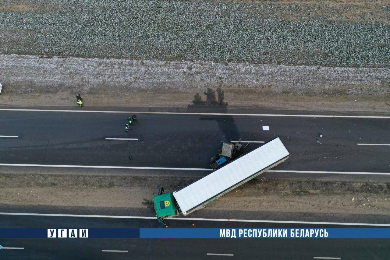 Российский дальнобойщик погиб в ДТП на трассе Минск-Гродно