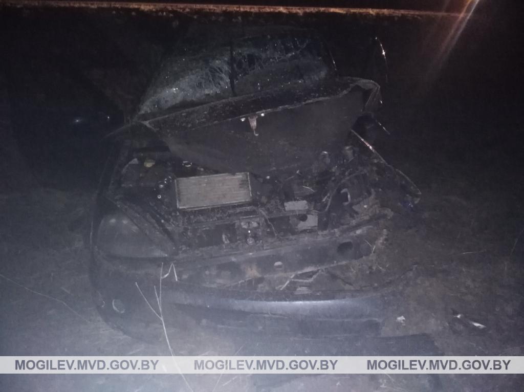 Бесправник разбился о дерево в Шкловском районе