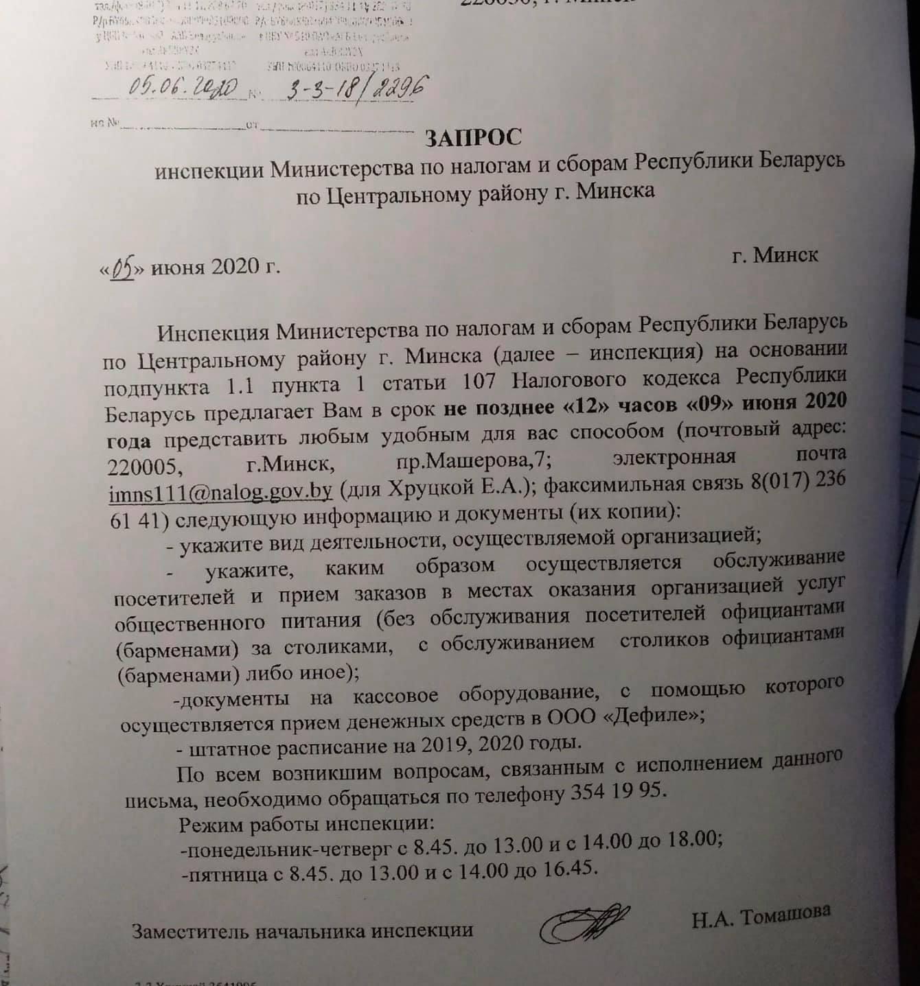 После обращений Фёдоровой в ЦИК ее баром заинтересовалась налоговая