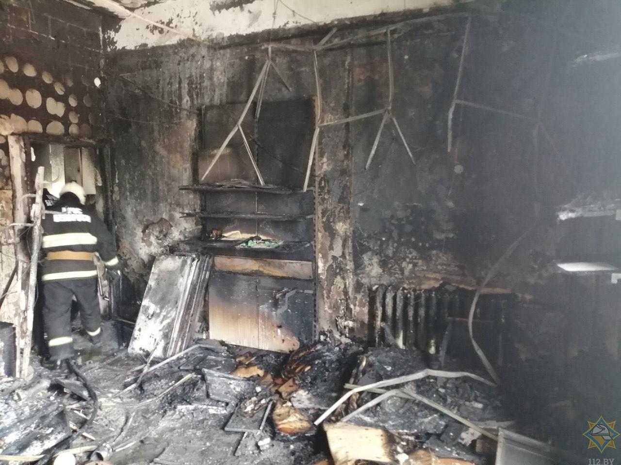 В центре Бреста загорелось офисное здание