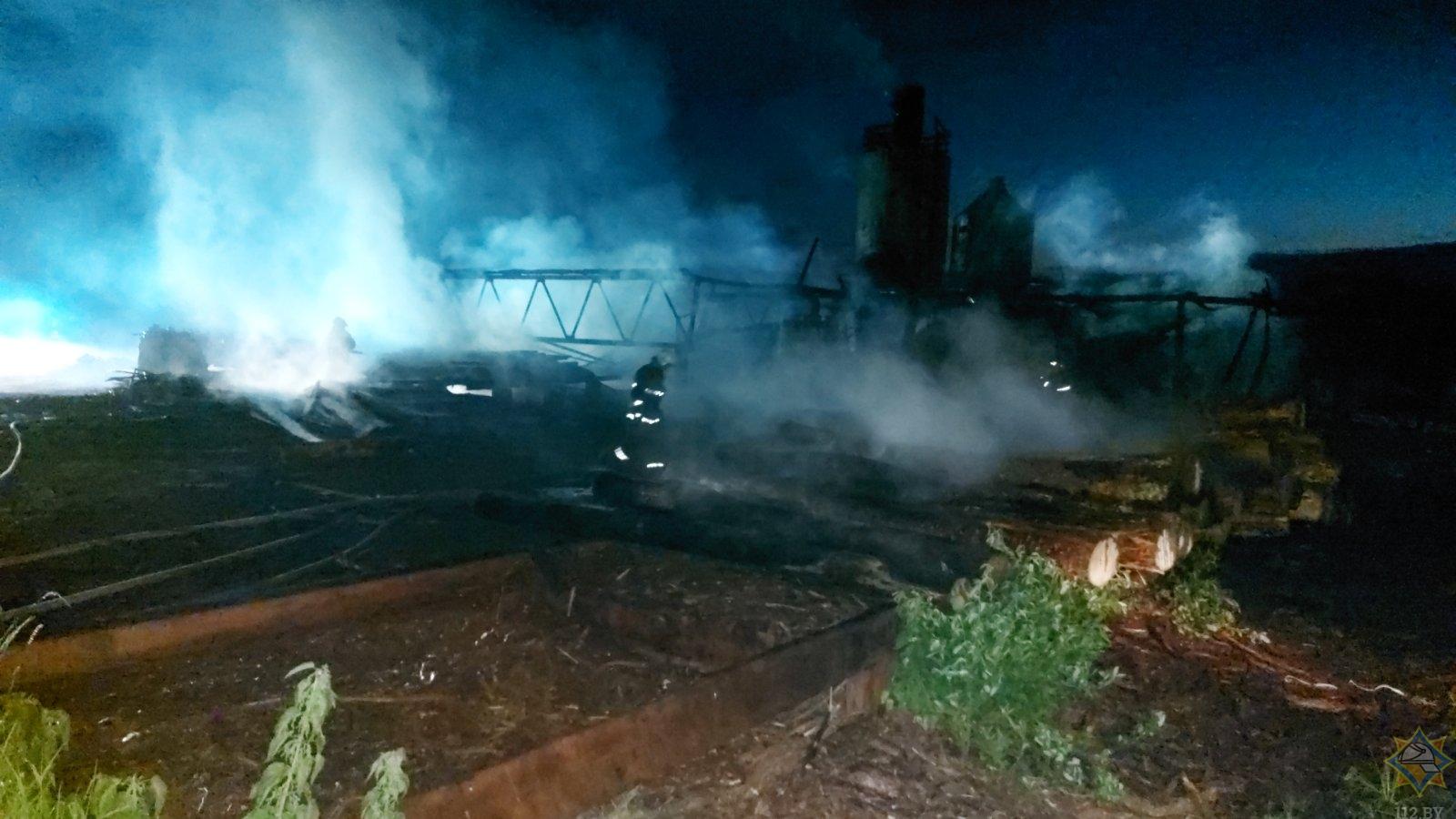 Пилорама сгорела в Логойском районе