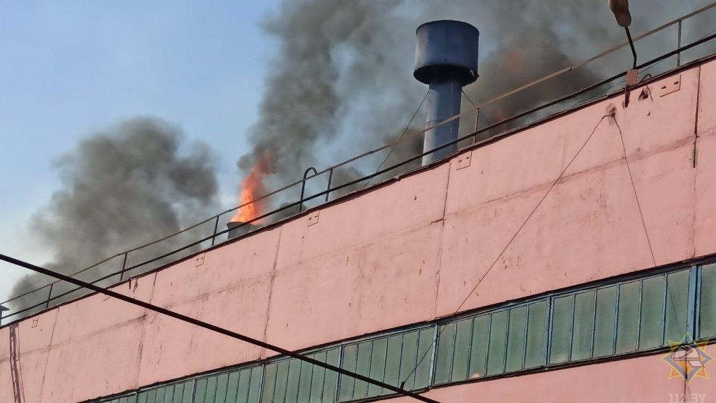 Пожар произошел на МТЗ