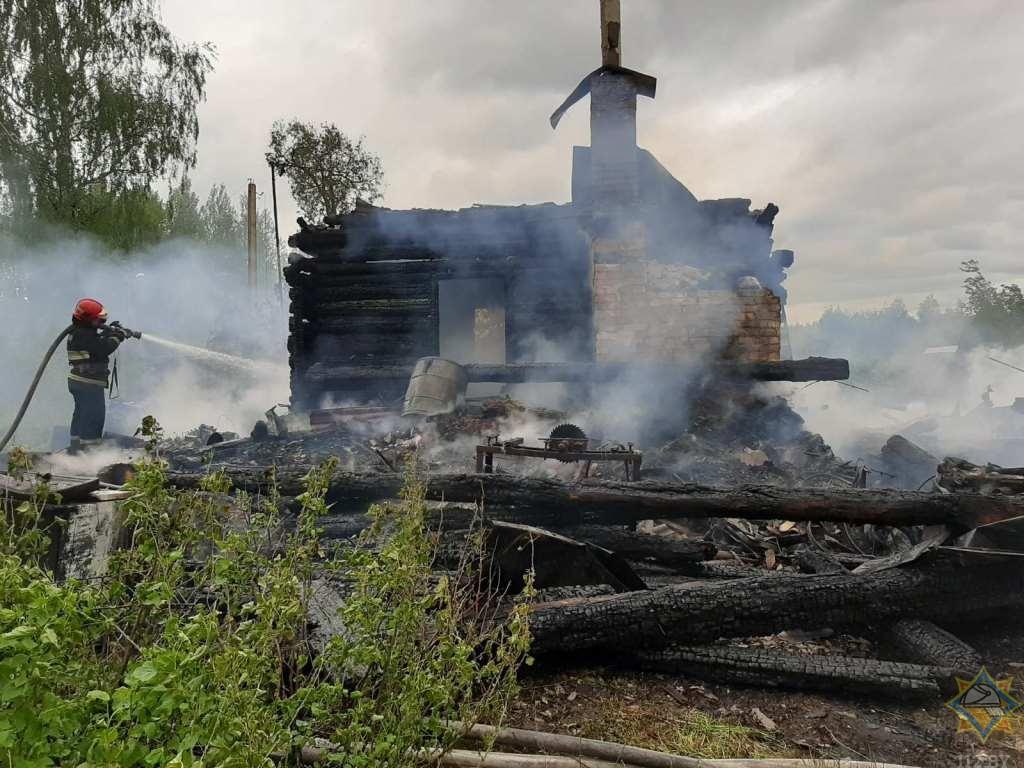 На пожаре в Шумилинском районе погиб мужчина