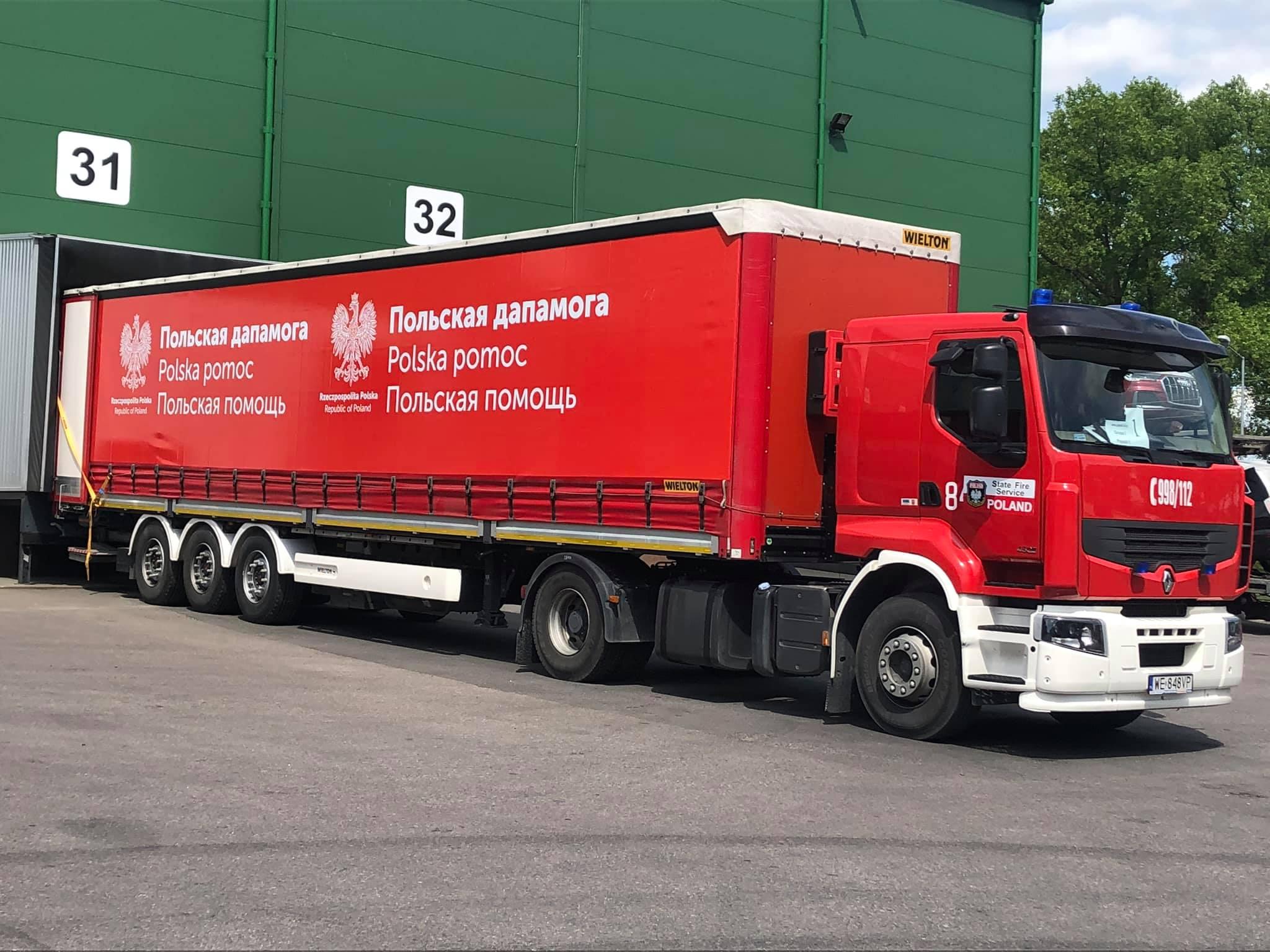 Гуманитарный груз из Польши прибыл в Беларусь