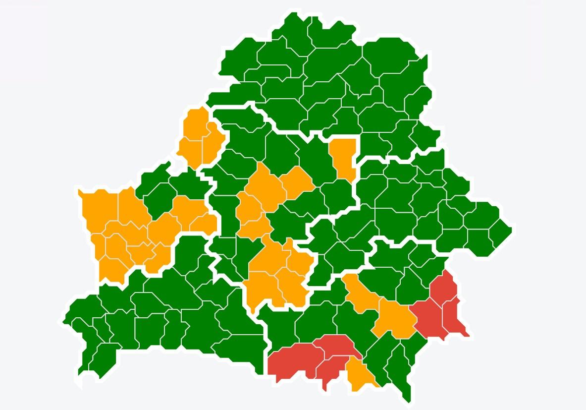 Посещение лесов запрещено в 32 районах страны