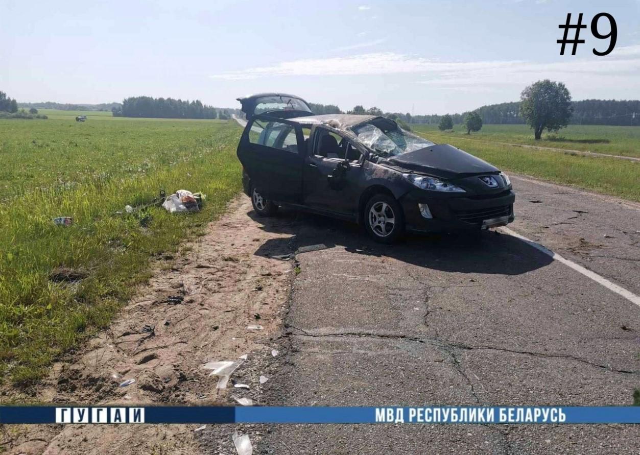 В Могилевской области за выходные опрокинулись четыре авто