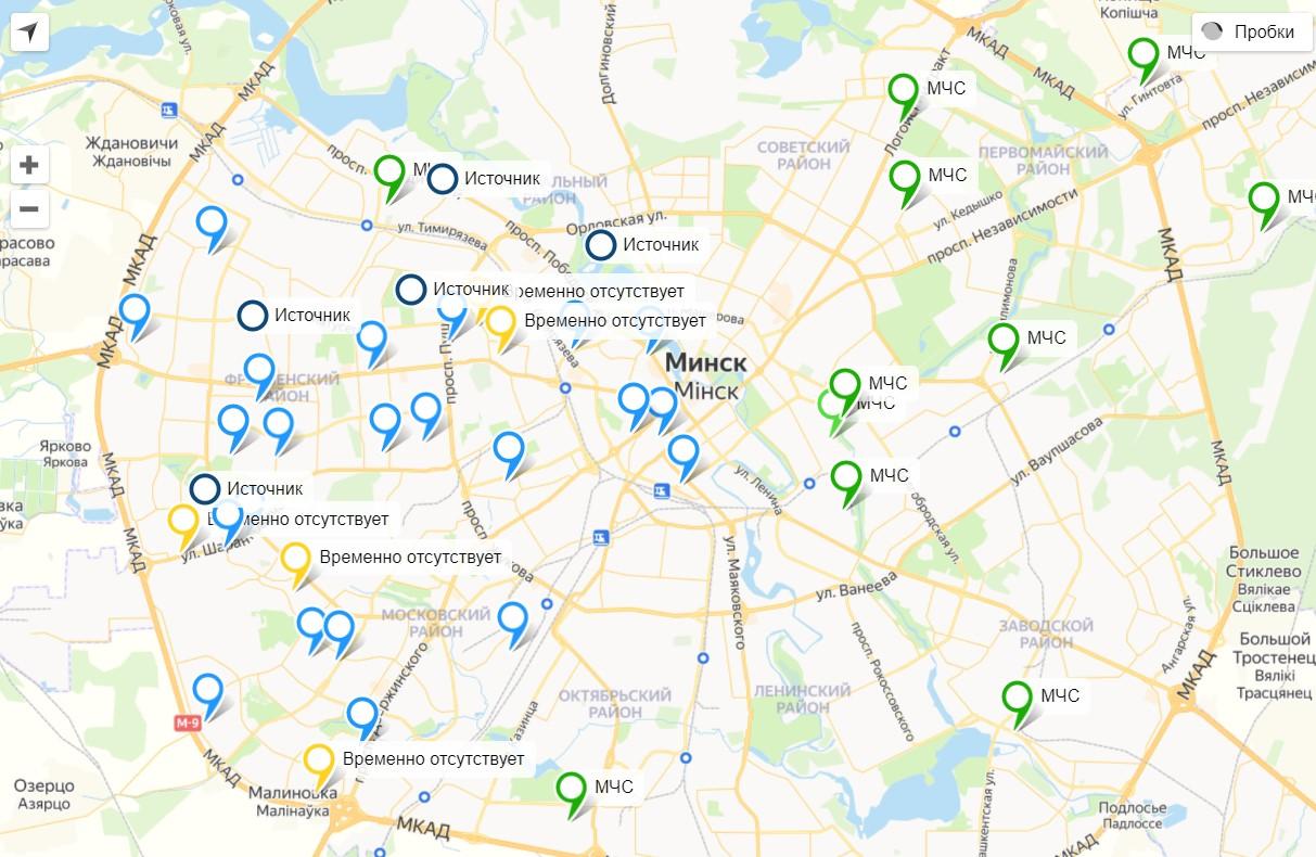 Появилась интерактивная карта мест подвоза воды в Минске