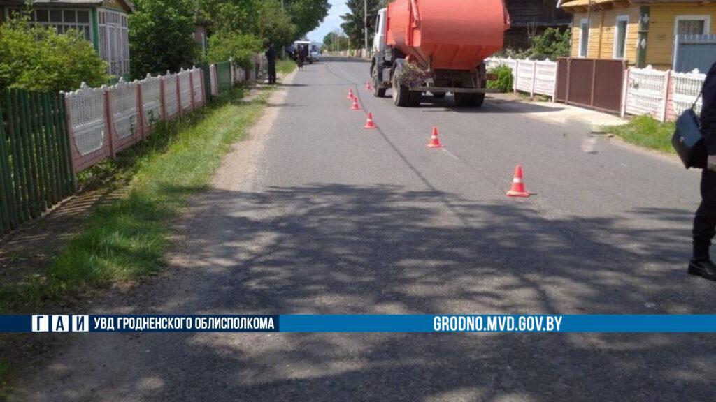 В Берестовицком районе мусоровоз насмерть сбил пенсионерку