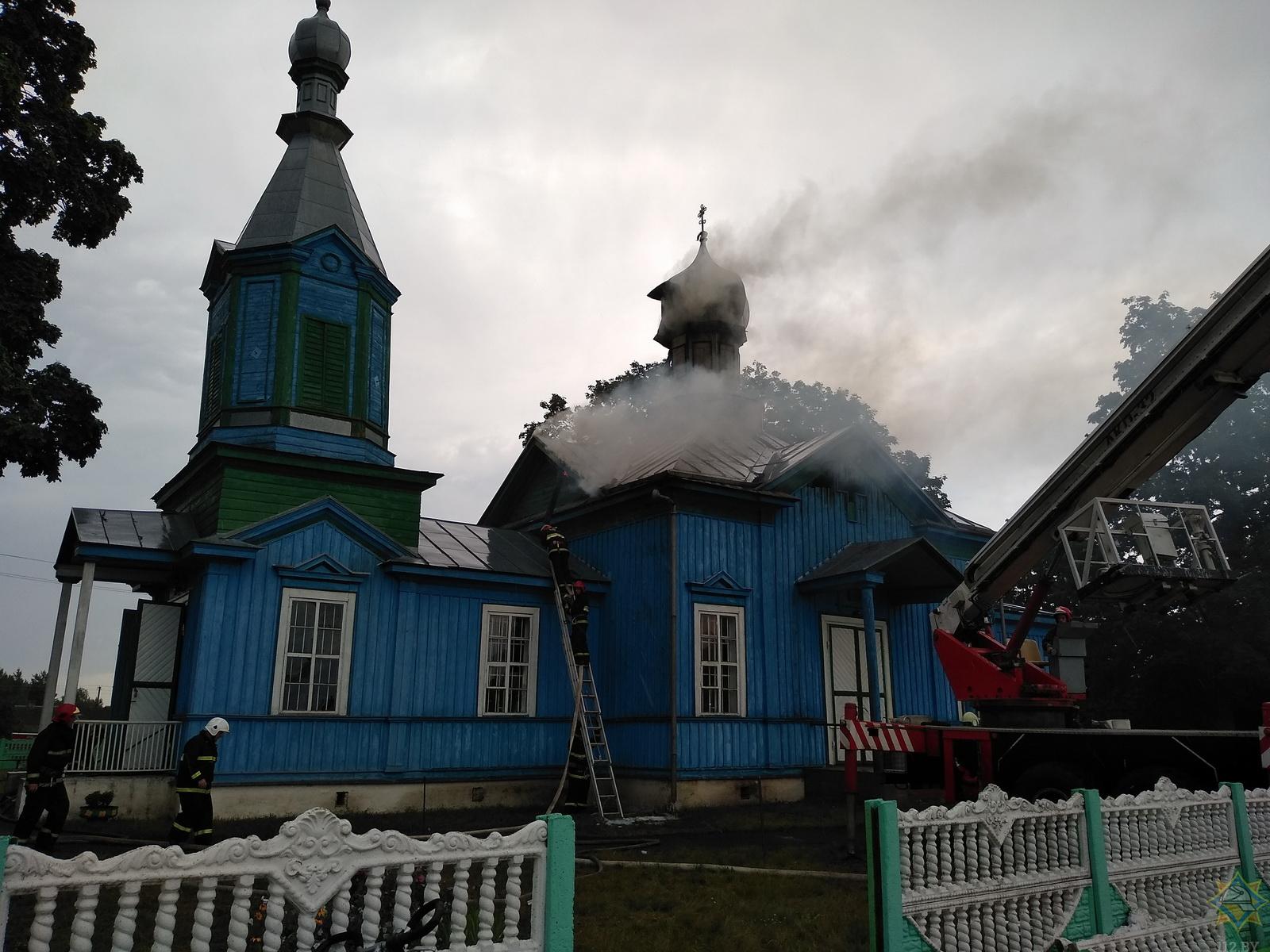 Церковь XIX века горела в Кобринском районе