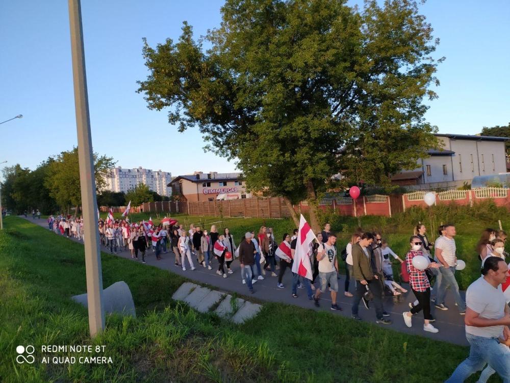 В Минске продолжаются акции солидарности, есть задержанные