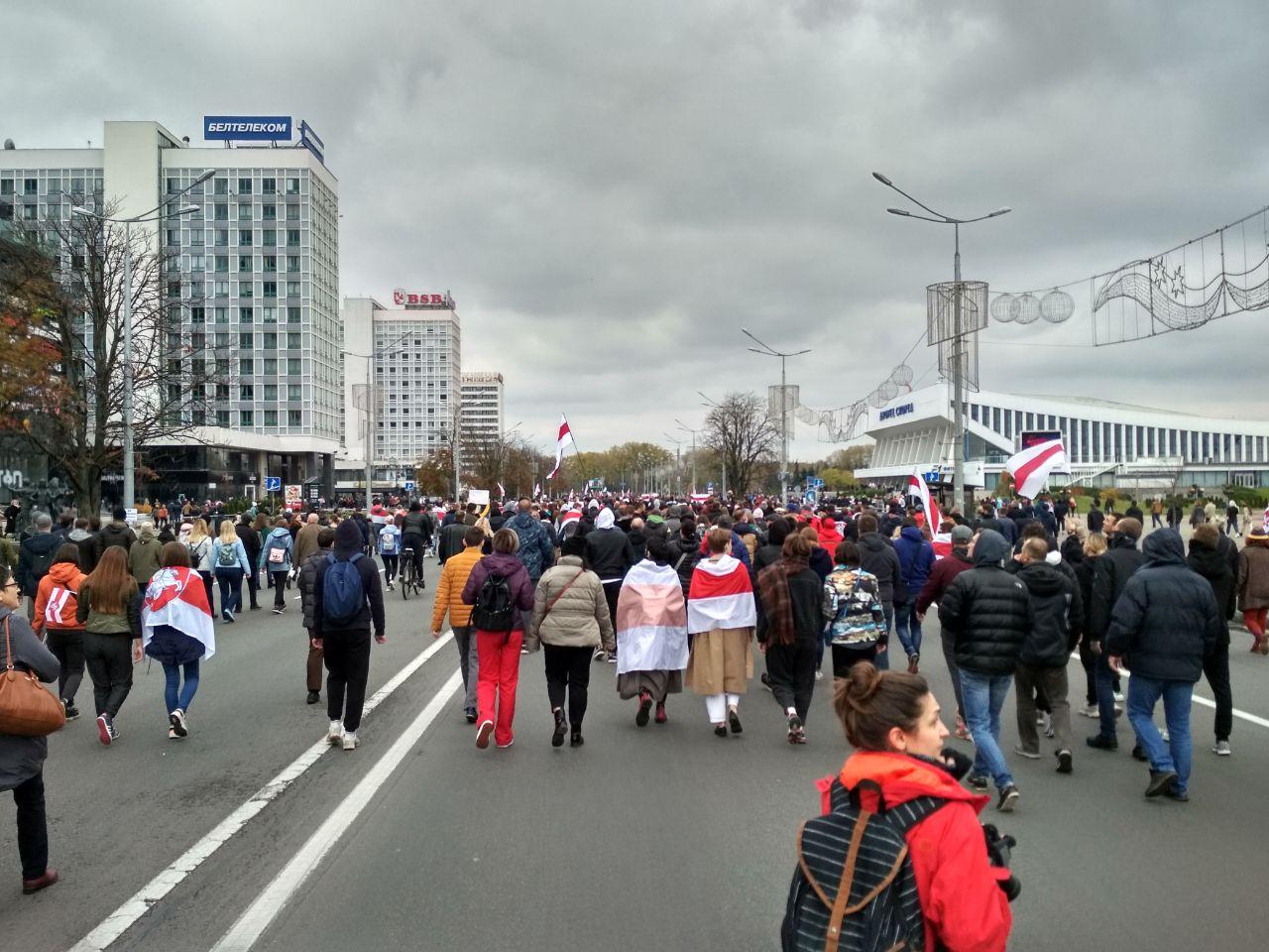 Протесты в Минске. 25.10.2020