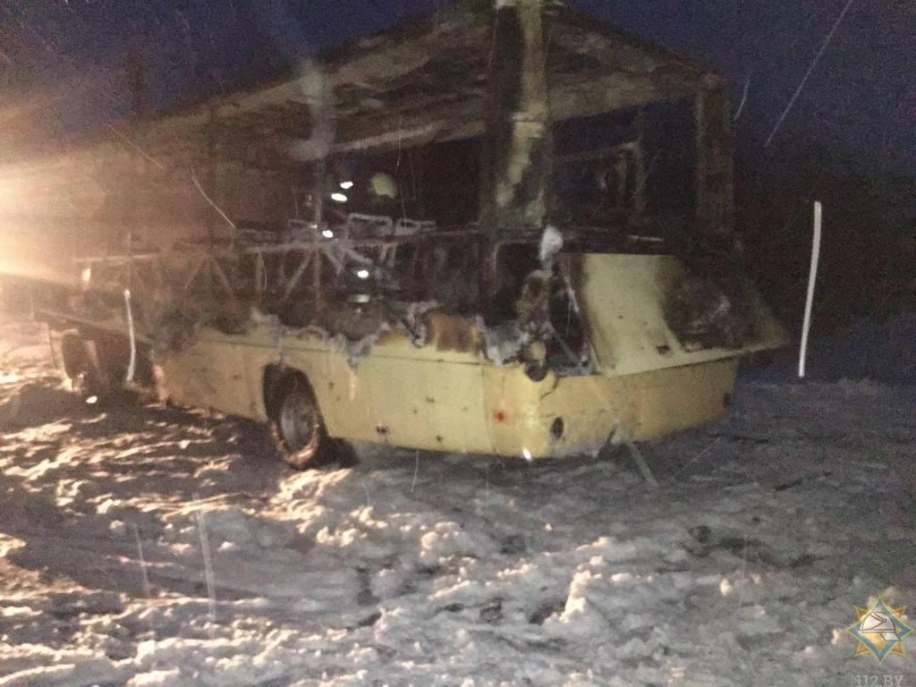 Пассажирский автобус загорелся в Чашникском районе