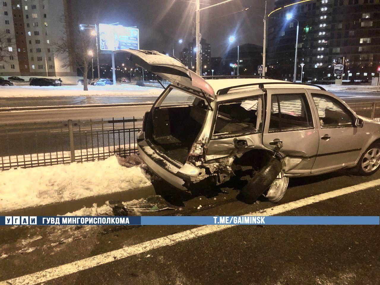 Пьяный на BMW протаранил Volkswagen