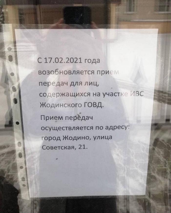 В ИВС Жодино и на Окрестина начали принимать передачи