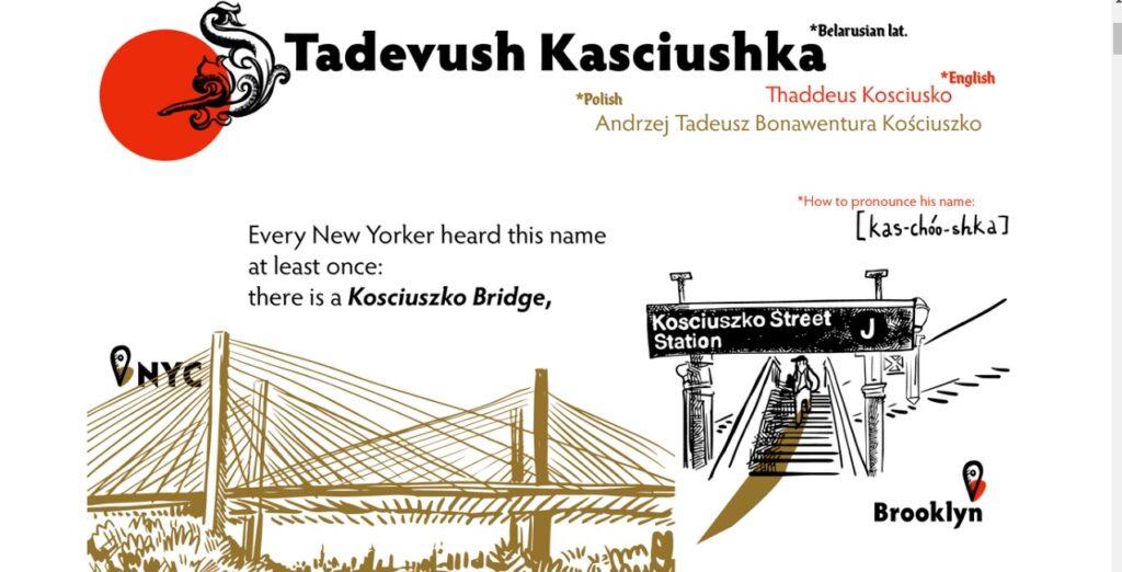Tadevuch Kasciushka: аніматарка Юлія Рудзіцкая намалявала гісторыю нацыяльнальнага героя Беларусі, Польшчы і ЗША для амерыканскіх сяброў