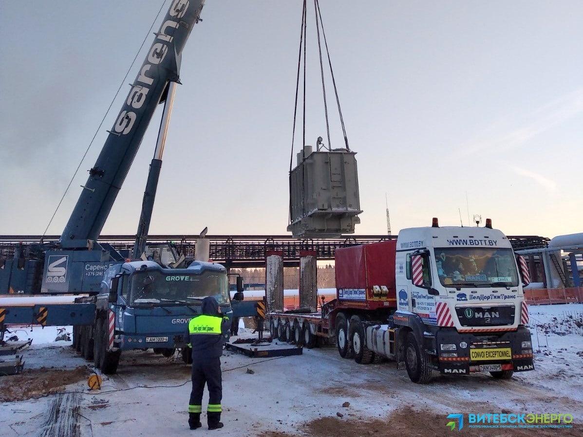 На Новополоцкую ТЭЦ доставили оборудование для пиково-резервного источника